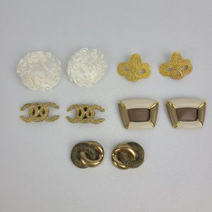 Vintage Shoe Jewelry Clips Lot of 5 Sets